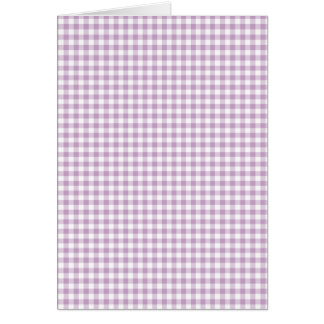 Lilac Gingham Card