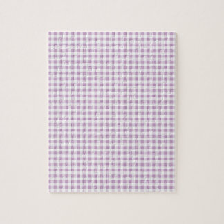 Lilac Gingham Jigsaw Puzzle