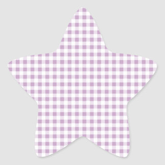 Lilac Gingham Star Sticker