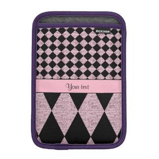 Lilac Glitter Checkers & Diamonds Sleeve For iPad Mini