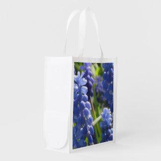 Lilac Grape Hyacinth Photo Image Reusable Bag