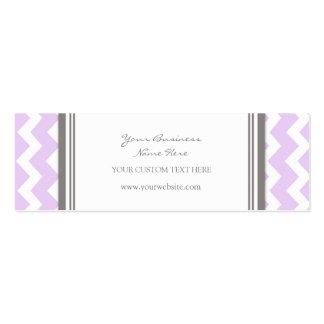 Lilac Gray Chevron Retro Business Cards