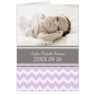 Lilac Gray It's a Girl Photo Birth Announcement