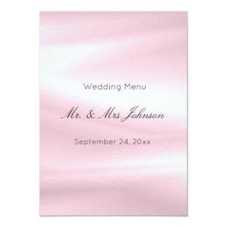 Lilac Gray Purple Silk White Wedding Event Menu Card