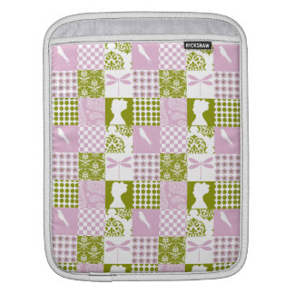 Lilac & Green Patchwork iPad Sleeve