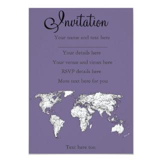 Lilac grey earth drawing card