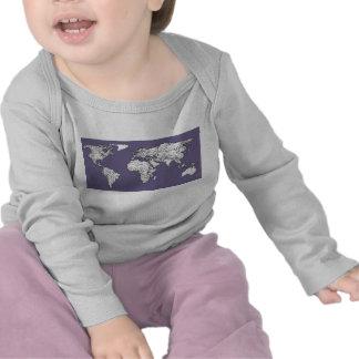 Lilac grey earth drawing t shirts