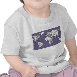 Lilac grey earth drawing tshirts
