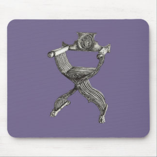 Lilac grey italian chair mouse pad
