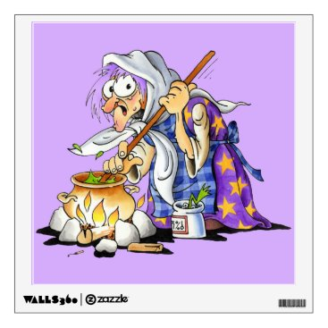 Halloween Themed Lilac Halloween Wall Decals - Purple Witch