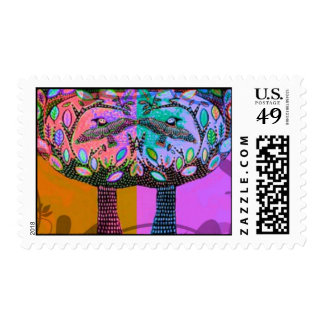 Lilac Harvest Trees Of Life Stamp
