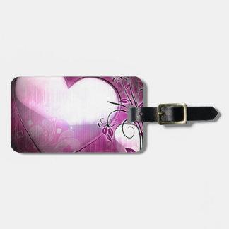 Lilac Heart Travel Bag Tags
