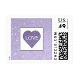 Lilac Heart postage