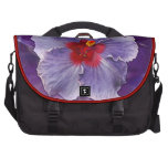 Lilac Hibiscus Bag For Laptop