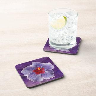 Lilac Hibiscus Cork Coaster
