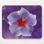Lilac Hibiscus Mouse Pad