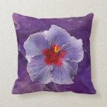 Lilac Hibiscus Throw Pillow