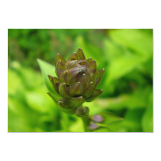 Lilac Hosta Bloom 5x7 Paper Invitation Card