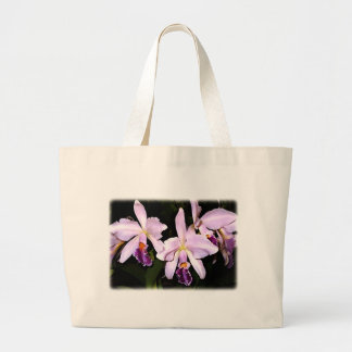 Lilac Hued Cattleyas Large Tote Bag