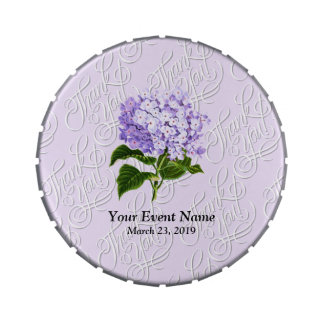 Lilac Hydrangea Hortensia Floral Wedding Jelly Belly Tins