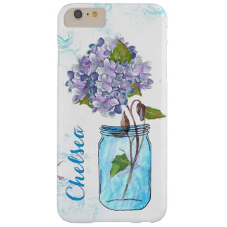 Lilac Hydrangea in Luminous Blue Jar Barely There iPhone 6 Plus Case