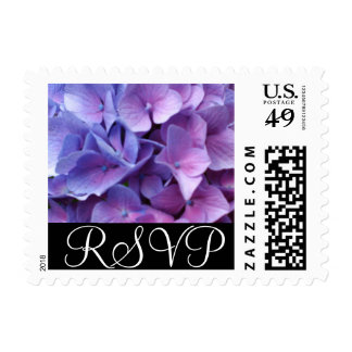 Lilac Hydrangea RSVP Stamp