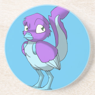 Lilac/Ice Blue Reptilian Bird Coaster