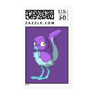Lilac/Ice Blue Reptilian Bird Postage