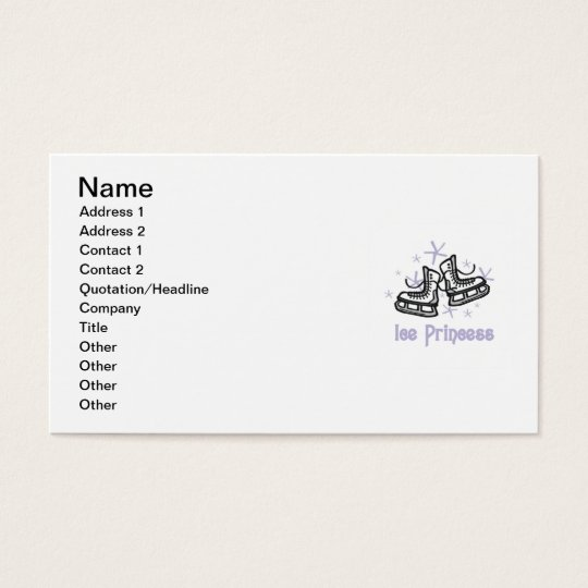 Lilac Ice Princess T shirts and Gifts Business Card