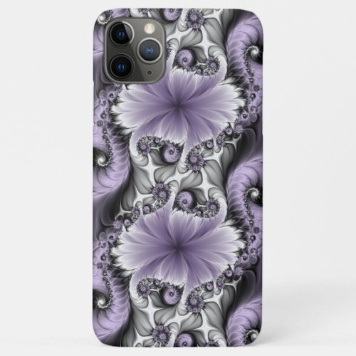 Lilac Illusion Abstract Floral Fractal Art Fantasy Phone Case