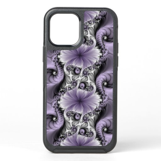 Lilac Illusion Abstract Floral Fractal Art Fantasy OtterBox Symmetry iPhone 12 Case