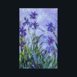"Lilac Irises Claude Monet Fine Art Canvas Print<br><div class=""desc"">This is a beautiful flower painting called &quot;Lilac Irises&quot; painted by French Impressionism painter,  Claude Monet,  c. 1914-1917.</div>"