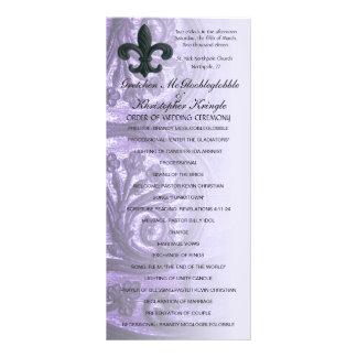 "lilac ""iron fleur de lis"" WEDDING PROGRAM"