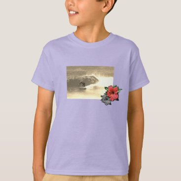 Beach Themed lilac-Island-beach-surf-Tee-for-kids T-Shirt