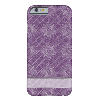 Lilac Jacquard Pattern Barely There iPhone 6 Case