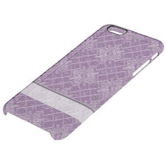 Lilac Jacquard Pattern Clear iPhone 6 Plus Case