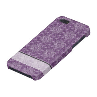 Lilac Jacquard Pattern iPhone SE/5/5s Cover