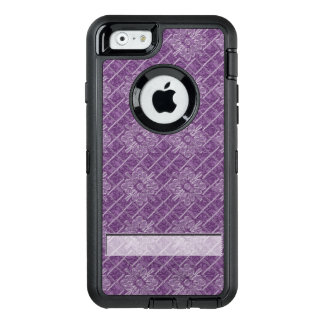 Lilac Jacquard Pattern OtterBox Defender iPhone Case