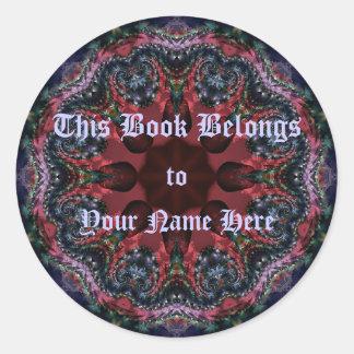 Lilac Jewels Bookplate Classic Round Sticker