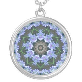 Lilac Kaleidoscope Round Pendant Necklace