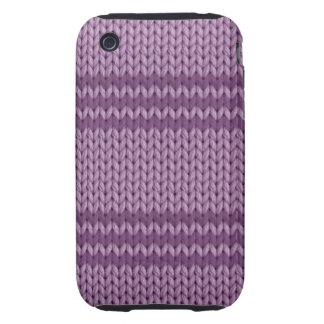 Lilac Knit iPhone 3 Tough Case