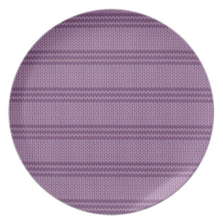 Lilac Knit Plate