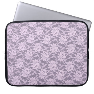 Lilac Lace Laptop Sleeve