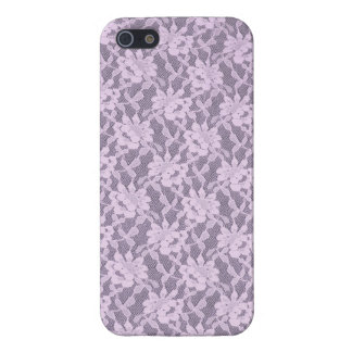 Lilac Laces Glossy Finish iPhone 5/5S Case