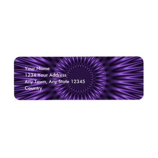 Lilac Lagoon Return Address Label