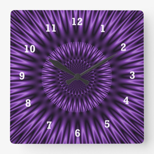 Lilac Lagoon Square Wall Clock