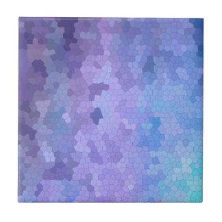 Lilac & Lavendar through Stained Glass Ceramic Tile