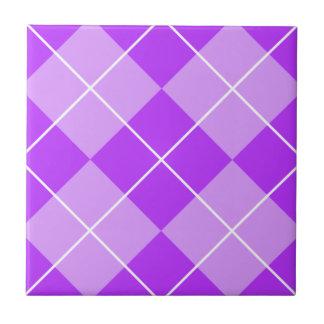 Lilac Lavender Argyle Tile