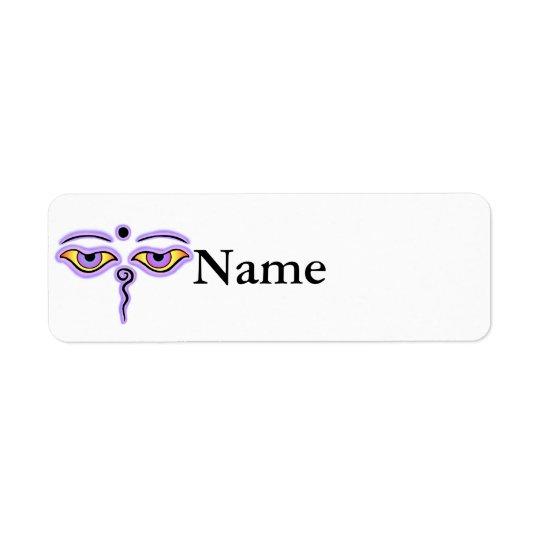 Lilac Lavender Buddha Eyes.png Label