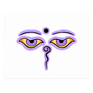 Lilac Lavender Buddha Eyes.png Postcard